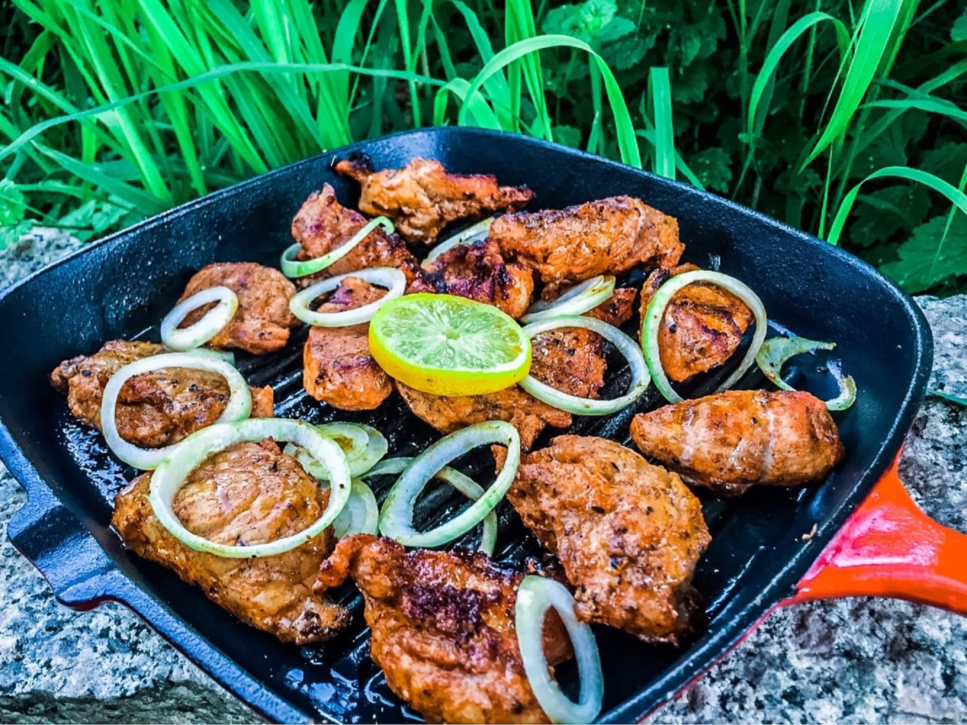 Kořeněné Vepřové maso na grilu