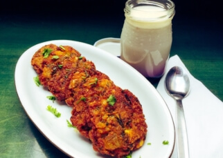Masala Vada (Chickpea patties)